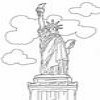 Coloring Monuments America - 1 - Statue of Liberty