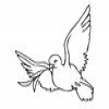 Coloring Religion -1 Dove of Peace