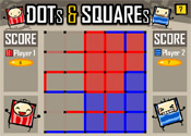 Dots & Squares 5×5 Single Player