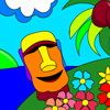 Tropical Island Paradise Coloring