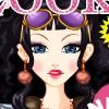 杂志美女化妆2