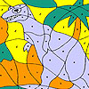 Alone dinosaur coloring