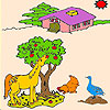 Animals on the farm coloring