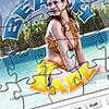 Beach Babe Jigsaw Puzzle