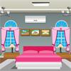 全粉红色的卧室