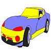 Big speedy car coloring