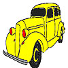 Big yellow car coloring