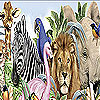 Big zoo slide puzzle