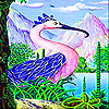 Blue flamingo slide puzzle