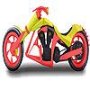 Burgundy motorbike coloring