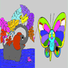 Butterfly – Elephant Coloring Game