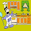 Chef and  kitchen coloring
