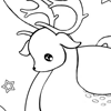 Christmas Deer Coloring