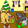 Doggy Christmas Coloring