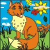 Fox Color – Free Coloring