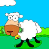 Coloring funny sheep
