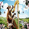 Cow and harp slide puzzle