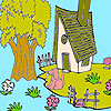 Cute farm house coloring