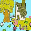 Cute farm house coloring