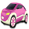 Cute pink car coloring