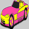 Fabulous pink car coloring