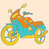 Fast motorbike coloring