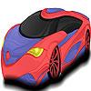 Fast sport car coloring