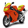 Faster motorbike coloring