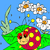 Ladybug in the garden coloring