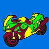 New and fast motorbike coloring
