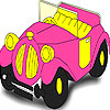 Pink old car coloring
