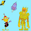 Robot and Friends coloring