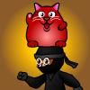 Rucky Cat Barance Ninja!