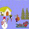 Santa and child coloring