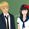 School couple 2 dress up game