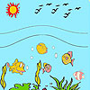 Sea and fishes coloring