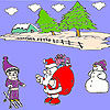 Snow and santa coloring