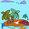 Tropical island coloring