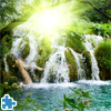 Waterfall In Deep Forest Jigsaw