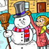 Winter Fun Coloring Game