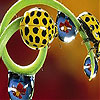 Yellow ladybirds slide puzzle